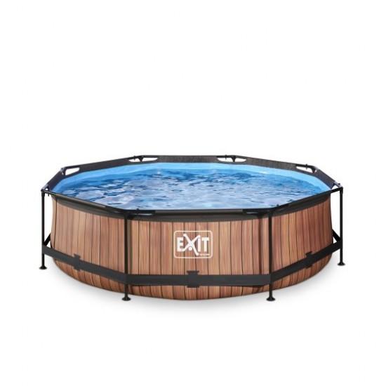 EXIT Wood ø300 x 76 cm välibassein  filterpumbaga