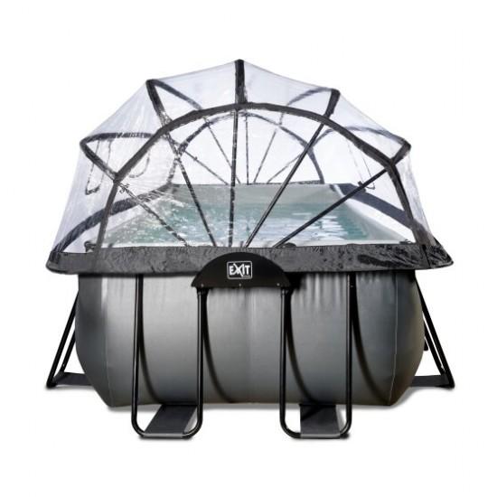 EXIT Black ø540 x 250 x 122 cm välibassein liivafiltri ja katusega