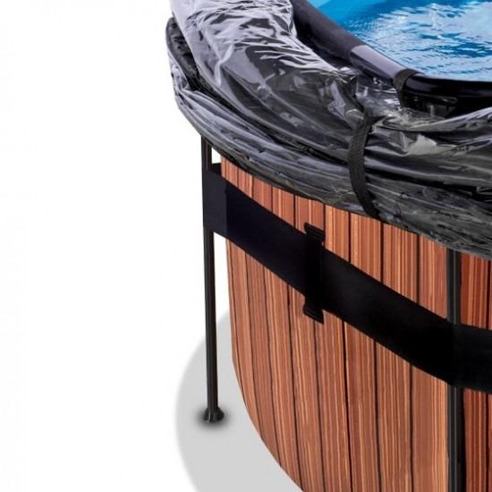 Välibassein EXIT Wood 488 x 122 cm liivafiltri ja katusega