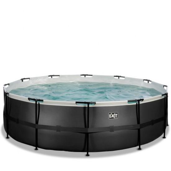 EXIT Black ø488 x 122 cm välibassein filterpumba ja redeliga