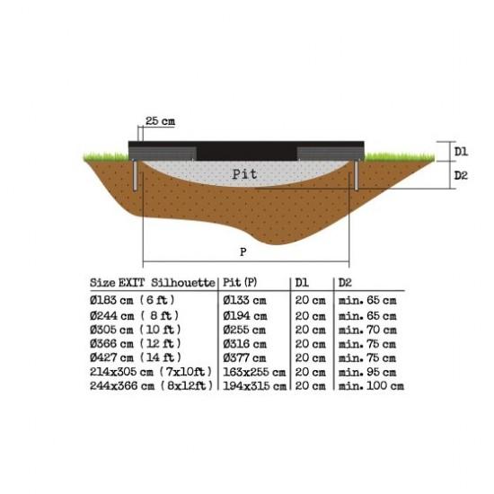 Exit Silhouette Ground 244 cm  (8ft) maapealne batuut