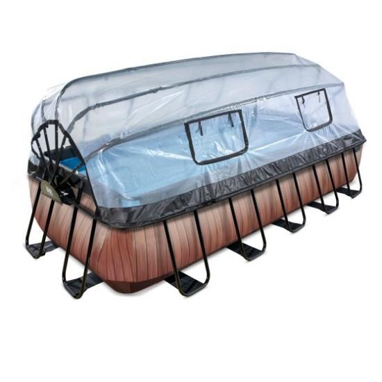 Välibassein EXIT Wood 540 x 250 x 122 cm liivafiltri ja katusega