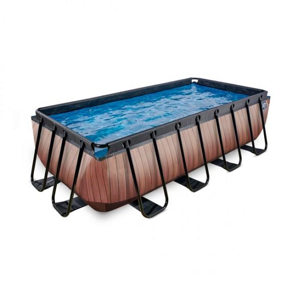 EXIT Wood ø400 x 200 cm välisbassein filterpumbaga