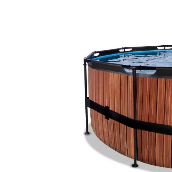Välibassein EXIT Wood 427 x 122 cm filterpumba ja redeliga