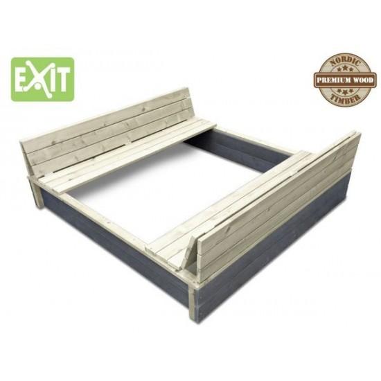 EXIT 132 X 136 cm kattega liivakast